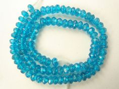 Neon Apatite Micro Faceted Rondelle / 4 mm / 95 Pieces / ST-998 by beadsofgemstone on Etsy