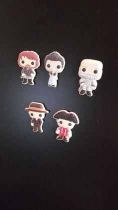 Miss Perles - 5 Magnets Outlander inspiration personnages Ecosse idée cadeau fans