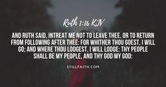 Top Bible Verses, Popular Bible Verses, Book Of Ruth, Ruth 1 16, Book Of Genesis, Sayings, Reading, Quotes, Books