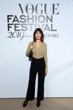 Jeanne Damas Photos - Jeanne Damas attends Vogue Fashion Festival Photocall At Hotel Potocki In Paris on November 2019 in Paris, France. - Vogue Fashion Festival 2019 : Photocall At Hotel Potocki In Paris Parisian Chic Style, Casual Chic Style, Parisienne Style, French Outfit, Jeanne Damas, French Girl Style, Cool Outfits, Fashion Outfits, Cardigan Fashion