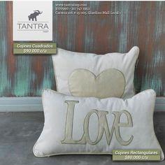 Cojines cuadrados personalizados, Love, Corazón, Novacolor. Tantra Imp