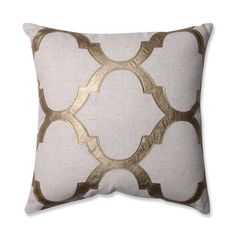 $25-30, silver or gold, bigger or smaller pattern   Pillow Perfect Glitz Gold 16.5-inch Throw Pillow
