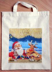 Weihnachtstasche-Weihnachtsmann-und-Elch-an-der-Bar
