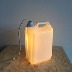 Original  Plastic Bottle Lamps  #design #lamp #plasticbottle #recycled Made from a used plastic wash powder bottle. I made a hole in the bottom to place the lamp.   ...