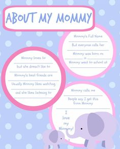 The female version of my popular printable baby book pages!