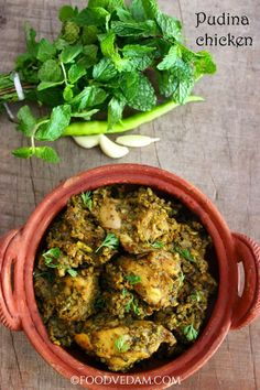 Pudina Chicken is a delicious,mintalacious,fabulous Hyderabadi cuisine.i have prepared dry version of this recipe.for the detailed text and video. Mint Recipes, Veg Recipes, Curry Recipes, Vegetarian Recipes, Cooking Recipes, Savoury Recipes, Recipies, Kitchen Recipes, Cooking Tips