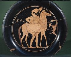 Pottery: red-figured plate.-520BC-500BC (circa)