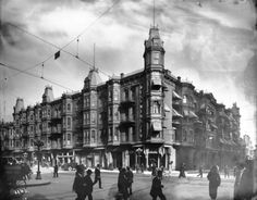 The Westminster Hotel at 4th and Main Street in Los Angeles, CA - 1900