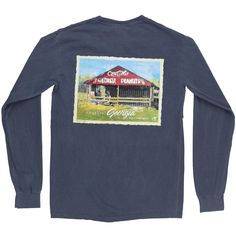 The Long Sleeve Peanuts Tee in Denim
