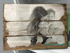 Wood Photo Pallet- Your image transferred and antiqued on wood, creative photo display, rustic photos, pallet photo - Paisley Grace Designs Wood Pallet Art, Pallet Crafts, Diy Pallet Projects, Wood Pallets, Wood Art, Wood Crafts, Wood Canvas, Photo Transfer To Wood, Wood Transfer