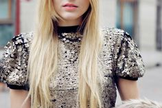puffy sleeves and sequins :)