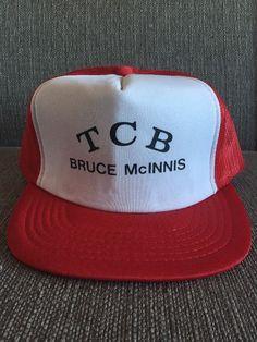 Vintage TCB Bruce McInnis Trucker Hat Retro 80 s Snap Back Mesh  dfaf32e8bf5c