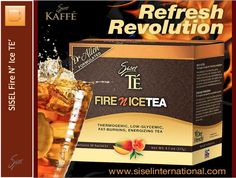 SISEL Fire N' Ice TE' is a Natural, Low Glycemic, Fat-Burning, Energizing Iced Tea that is Diet Friendly.  Sweetened with a patented fruit sweetener made with organic pomegranate fruit, a proprietary (non-caloric) thermogenic agent, an anti-carbohydrate compound clinically tested for over 20 years and backed by 30 plus years of unprecedented manufacturing power. Go from fat storing to fat burning... #SISELTEA #SiselTE #weightlossTea