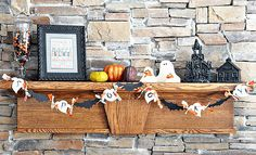 Awesome Mantle Design Model with Some Accessories: Colorful Halloween Mantle Decoration ~ flohomedesign.com Decorating Inspiration