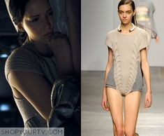 Catching Fire: Katniss' Knitted Sweater Bodysuit - loved the top part of this in the movie!