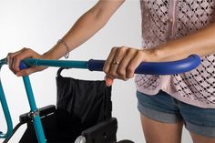 """Walk side by side with your wheelchair bound friend/loved one instead of pushing from behind. """"This Clever Add-On Makes Wheelchairs Social 