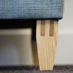 TEHDÄÄN HYVIN | HANDMADE QUALITY Työvaihe: Jalka sormiliitoksella | Craft: Leg with finger joint  Tuotantolinja: Sohvat | Production line: Sofas  #pohjanmaan #pohjanmaankaluste #käsintehty