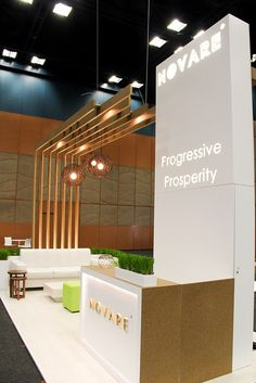Green highlights against the clean white lines of the Novare exhibit at IRF 2013 Exhibition Stall, Exhibition Stand Design, Exhibition Display, Trade Show Booth Design, Display Design, Deco Design, Pop Display, Kiosk Design, Retail Design