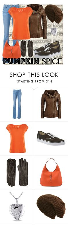"""""""Fall Coffee Date"""" by caitlyn-schmidt ❤ liked on Polyvore featuring Frame Denim, Vans, Burberry, Gucci and Miadora"""