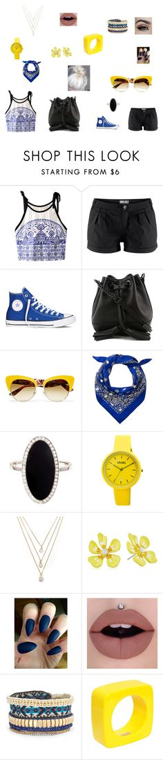 """""""Untitled #48"""" by starlord221b ❤ liked on Polyvore featuring Converse, Rebecca Minkoff, Dolce&Gabbana, Marc Jacobs, Jennifer Meyer Jewelry, Crayo, Forever 21, Betsey Johnson, Stella & Dot and Dsquared2"""