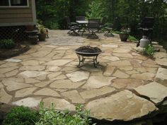 Best Natural Stone Patio Design Ideas Flagstone Patio, Small Backyard Patio GreenScapes Landscaping and . Concrete Patios, Paving Stone Patio, Flagstone Patio, Brick Patios, Pergola Patio, Diy Patio, Backyard Patio, Backyard Landscaping, Patio Ideas