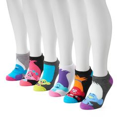 Women's 6-pk. DreamWorks' Trolls No-Show Socks, Size: 9-11, Black
