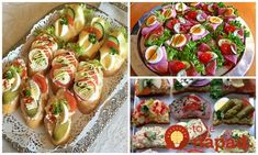To je nápad! Slovak Recipes, Good Food, Yummy Food, Food 52, Party Snacks, Vegetable Recipes, Bon Appetit, Healthy Snacks, Sushi