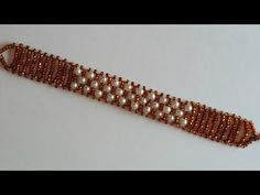 Beaded Bracelet for Beginners. Seed beads and pearl beads bracelet - YouTube