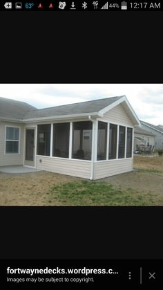 Screen Porch With Vinyl Siding Screened Porches