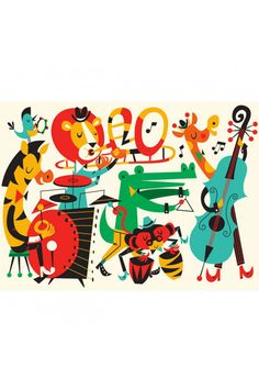 Jamming Music Jazz Poster | OMM Design at The KID Who