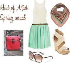 Hint of Mint: Spring casual, created by alexgrieco on Polyvore