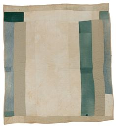 "Pearlie Kennedy Pettway, ""Bars"" work-clothes quilt, c. 1950, Denim and cotton (britches legs), 84 x 81 inches"