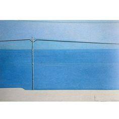 """Piero Guccione """"Paesaggio"""" From the Series: """"Il Paesaggio: Le Linee del Mare e della Terra"""" (The Landscape: Land and Sea Lines) 1975"""