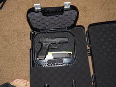 Glock .40 is the only handgun.