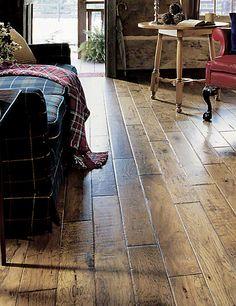 AE208 37522 Hardwood Floors Handscraped Hickory In Virginia Authentic