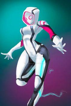 Spider-Gwen V by Jp-files on DeviantArt Gwen Spiderman, Marvel Spider Gwen, Spider Gwen Cosplay, Spider Art, Spider Verse, Marvel Girls, Comics Girls, Marvel Comics Art, Comic Art