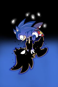 Sonic the Hedgehog is fighting a foe... Which GREATLY resembles Dark Sonic's transformation on Sonic X: Testing Time!