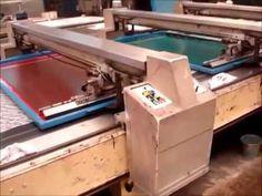 Fabric Printing machine / Máquina para estampado de Tela - YouTube
