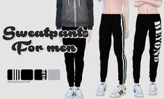 Sims 4 Updates: Rinvalee - Clothing, Male : Sweatpants for men, Custom Content D. Sims 4 Updates: Rinvalee - Clothing, Male : Sweatpants for men, Cu Sims 3, The Sims 2, Sims 4 Cas, Sims 4 Men Clothing, Sims 4 Male Clothes, Male Clothing, Los Sims 4 Mods, Pelo Sims, Sims 4 Cc Shoes