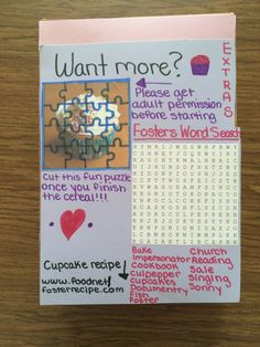 Cereal Box Book Reports