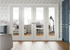 Easi-Frame White Room Divider Door System - Internal Room Dividers