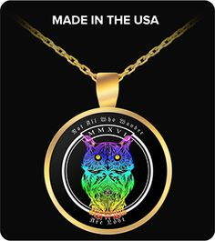 Not all who wander are lost psychedelic Owl Necklace