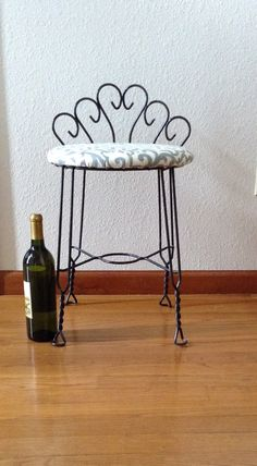 Wrought Iron Vanity vintage wrought iron vanity chair mid centurypagescrappers