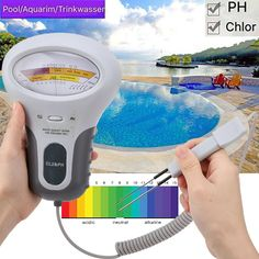 Pool and SPA Chlorine Meter PH Tester 2 in 1 for Swimming Pool Aquarium Drinking water Save this photo on your board if you ❤️ it.