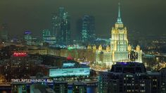 Moscow winter night timelapse (fragments) by Timelapser