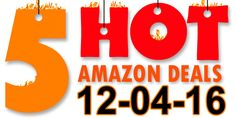 ►► 5 HOT AMAZON DEALS – 12/4/16 ►► #Amazon, #Bargain, #Clearance, #DailyDeal, #Dealoftheday, #Deals, #Discounts, #Frugal, #Frugalblogger, #HotBuys, #Sale, #Whatadeal ►►