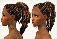 Mod The Sims - Nouk Dark lady Braids - Braids hairdo for ladies of all ages!
