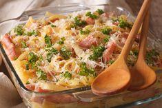 Sonkás-cukkinis rakott tészta Batch Cooking, Coleslaw, Pasta Salad, Potato Salad, Macaroni And Cheese, Food And Drink, Menu, Nutrition, Lunch