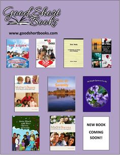 """NEW WEB SITE!!  at www.goodshortbooks.com  Books for adults AND children! Non-fiction and children's fiction! For personal reading or to give as gifts! From $1.99 - $12.99! Printed books, eBooks, and Kindle! Audio books coming soon!  Plus, you can sign up for our FREE eBook, """"Kids Are REALLY Funny!"""""""