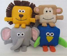 Padrões de costura para brinquedos de pelúcia e bonecas de pano